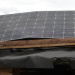 Původní (poškozený) solární panel Sanyo 205Wp