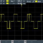 Rohde & Schwarz Scope Rider RTH: měření výstupu měniče APC